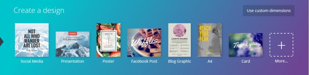 Canva, créer facilement des visuels pour les médias sociaux